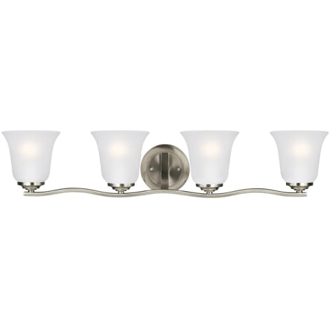 Emmons Four Light Wall / Bath Brushed Nickel Bulbs Inc