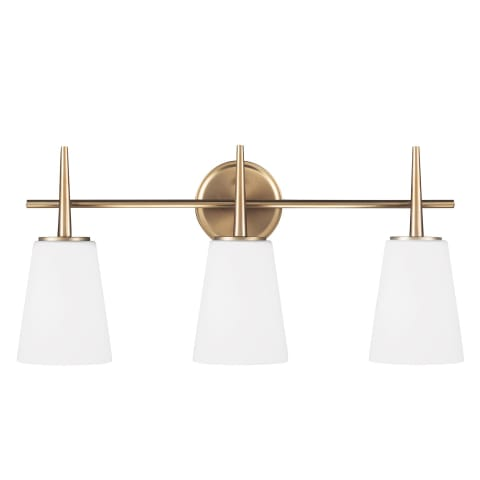 Driscoll Three Light Wall / Bath Satin Bronze