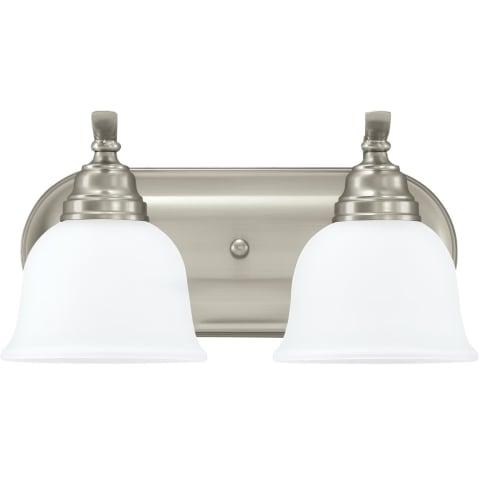 Wheaton Two Light Wall / Bath Brushed Nickel Bulbs Inc