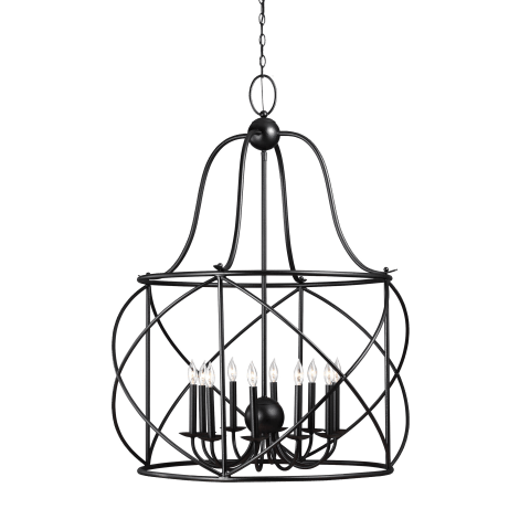 Turbinio Ten Light Hall / Foyer Blacksmith Bulbs Inc