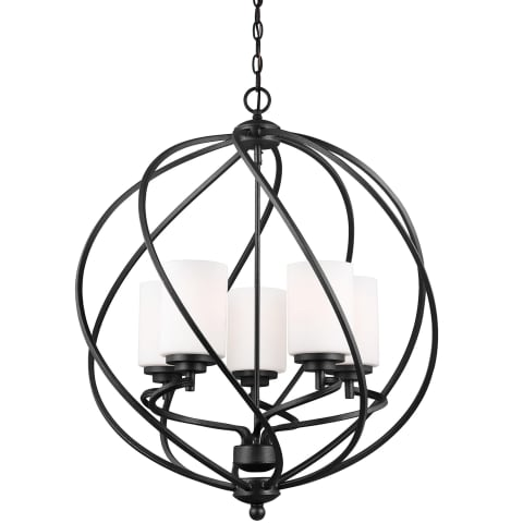 Goliad Five Light Hall / Foyer Blacksmith