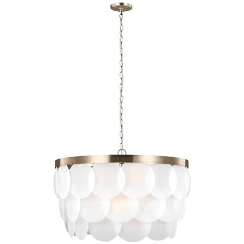 Mellita Eight Light Pendant Satin Brass Bulbs Inc