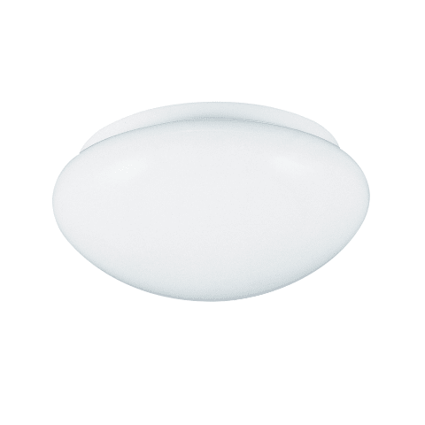 Three Light Flush Mount White