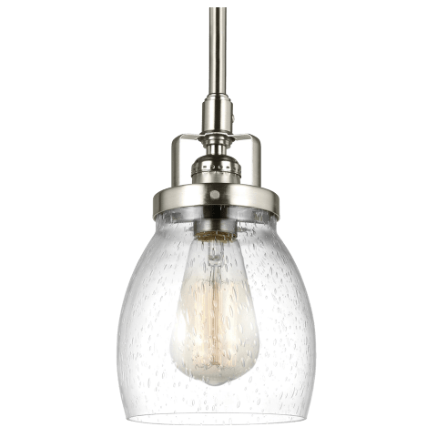 Belton One Light Mini-Pendant Brushed Nickel Bulbs Inc