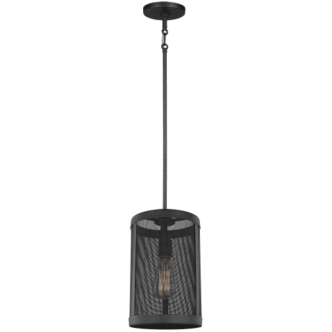 Gereon One Light Mini-Pendant Black Bulbs Inc