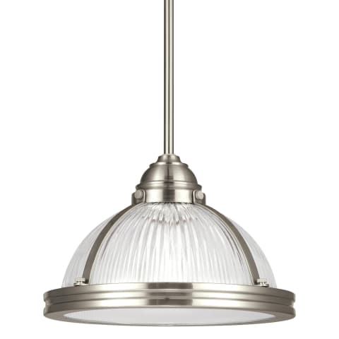 Pratt Street Prismatic One Light Pendant Brushed Nickel Bulbs Inc
