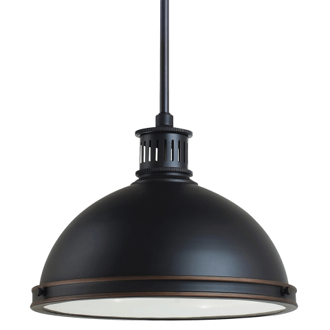 Pratt Street Metal Two Light Pendant Autumn Bronze Bulbs Inc
