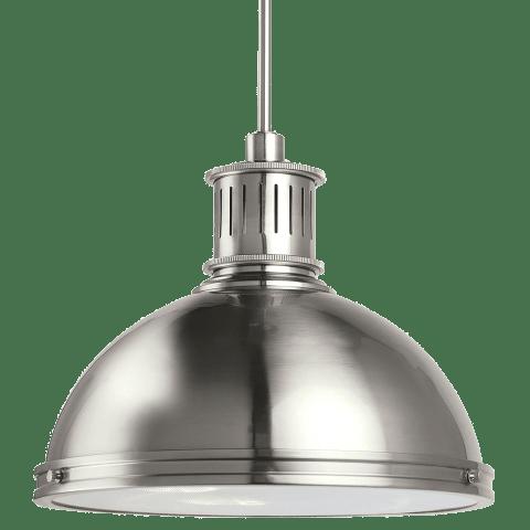 Pratt Street Metal Three Light Pendant Brushed Nickel