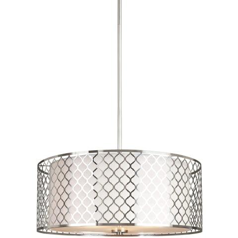 Jourdanton Three Light Pendant Brushed Nickel Bulbs Inc