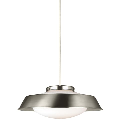 Gooding Medium One Light Pendant Brushed Nickel