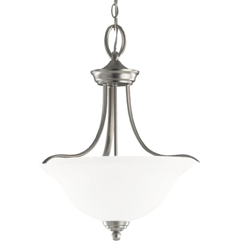 Wheaton Three Light Pendant Brushed Nickel Bulbs Inc