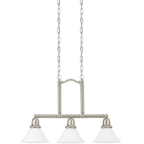 Sussex Three Light Island Pendant Brushed Nickel