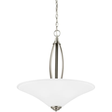 Metcalf Three Light Pendant Brushed Nickel Bulbs Inc