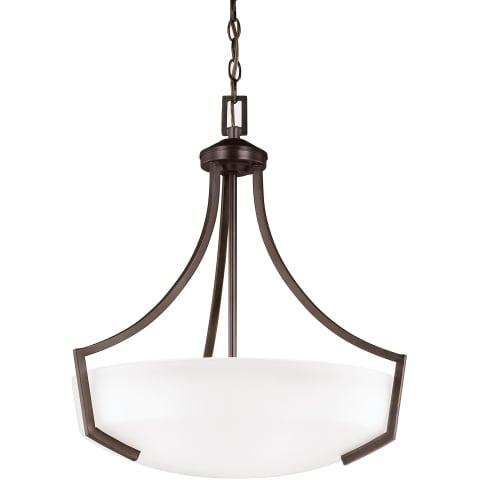 Hanford Three Light Pendant Burnt Sienna Bulbs Inc