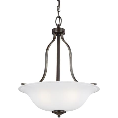 Emmons Three Light Pendant Heirloom Bronze Bulbs Inc