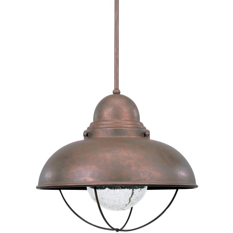 Sebring One Light Outdoor Pendant Weathered Copper