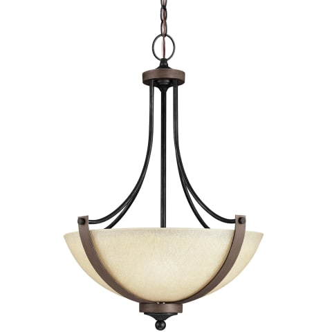 Corbeille Three Light Pendant Stardust Bulbs Inc