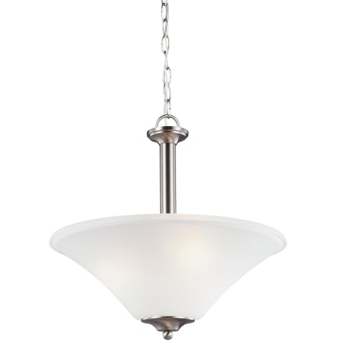 Holman Three Light Pendant Brushed Nickel
