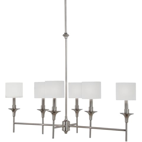 Stirling Six Light Island Pendant  Brushed Nickel