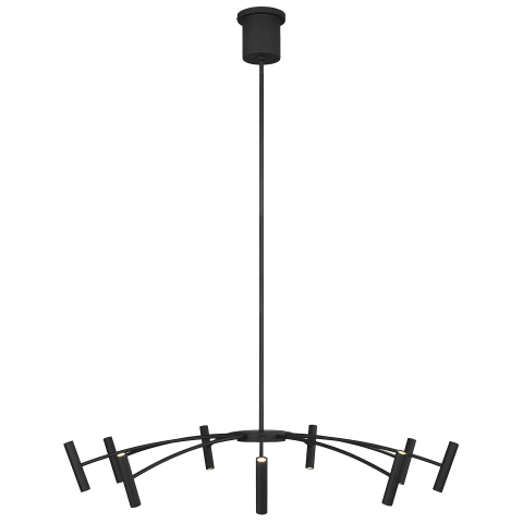 Aerial 40 Chandelier matte black 3000K 90 CRI integrated led 90 cri 3000k 120v (t20/t24)