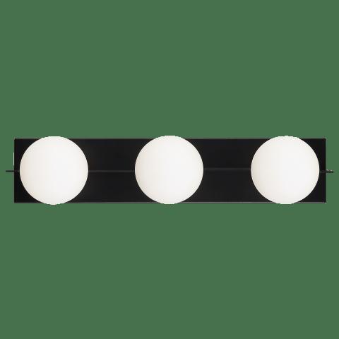 Orbel 3-Light Bath 3 Light matte black no lamp