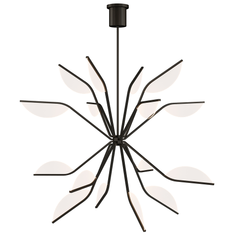 "Belterra 43 Chandelier 48"" Diameter matte black 3000K 90 CRI integrated led 90 cri 3000k 120v"