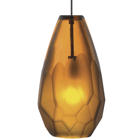 Briolette Pendant FreeJack Amber satin nickel 2900K 100 CRI 12 volt xenon