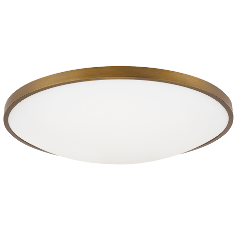 "Vance 18 Ceiling  18"" Medium aged brass 2700K 90 CRI led 90 cri 2700k 120v"