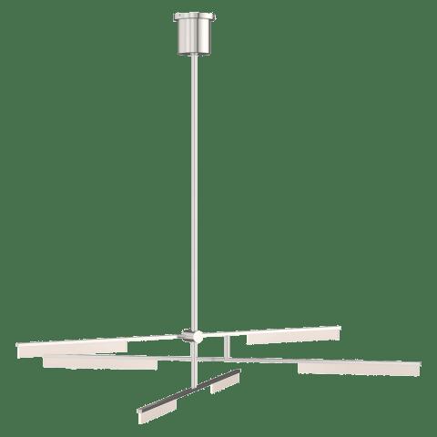 Klee 6-Light Chandelier 6-Light Chandelier polished nickel 3000K 90 CRI integrated led 90 cri 3000k 120v