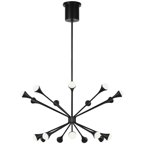 Lody 18-Light Chandelier 18-Light Chandelier matte black 3000K 90 CRI led 90 cri 3000k 120v-277v unv (t20/t24)