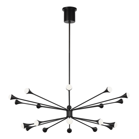 Lody 20-Light Chandelier 20-LIGHT matte black 3000K 90 CRI integrated led 90 cri 3000k 120v-277v unv (t20/t24)