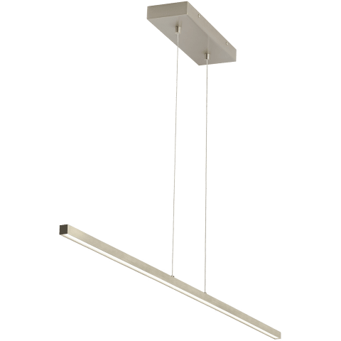 Essence Linear Suspension satin nickel 3000K 90 CRI integrated led 90 cri 3000k 120v