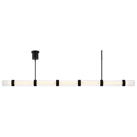 Wit Linear Suspension 7 Glass black 3000K 90 CRI integrated led 90 cri 3000k 120-277v unv (t24)