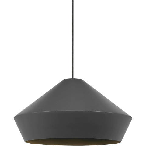 Brummel Pendant MonoPoint Matte Charcoal Gray antique bronze no lamp