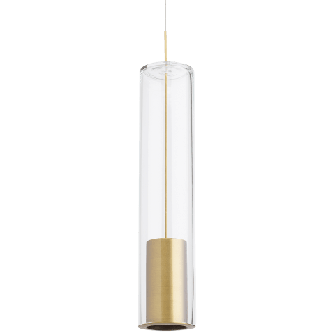 Captra Pendant MonoPoint Clear aged brass no lamp