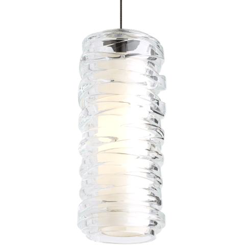 Leigh Pendant Clear chrome 12 volt halogen (t20)