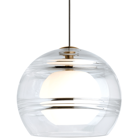 Sedona Pendant MonoPoint Clear aged brass 12 volt halogen (t20)