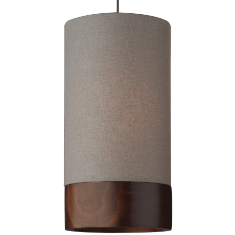 Topo Pendant MonoPoint Heather Gray antique bronze 3000K 90 CRI 12 volt led 90 cri 3000k (t20/t24)
