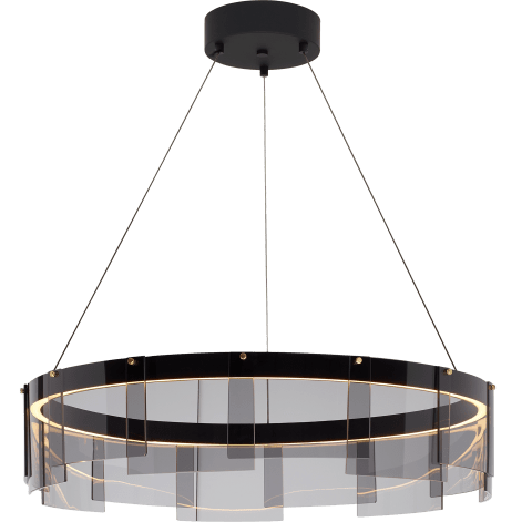 "Stratos 24 Chandelier 24"" Diameter Smoke/Black 2700K 90 CRI  led 90 cri 2700k 120v"
