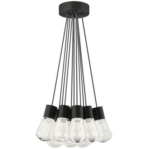 Alva Pendant 11-LITE CHANDELIER Gray black 3000K-2200K 90 CRI led 90 cri warm color dimming 3000-2200k 120v (t24)