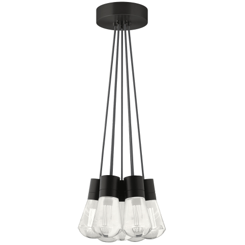 Alva Pendant 7-LITE CHANDELIER Gray black 3000K-2200K 90 CRI led 90 cri warm color dimming 3000-2200k 120v (t24)