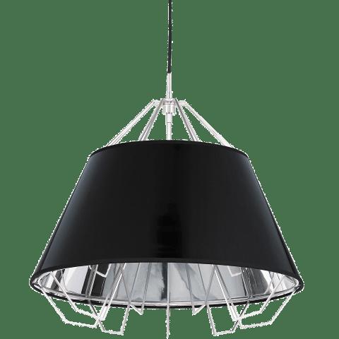 Artic Pendant Gloss Black-Silver Shade satin nickel halogen par20 120v
