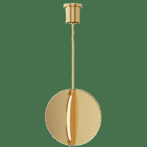 Bau 18 Pendant natural brass 3000K 90 CRI integrated led 90 cri 3000k 120v-277v unv