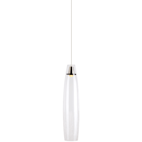 Coda Pendant Small Clear Crackle satin nickel 3000K 90 CRI  led 90 cri 3000k 120v