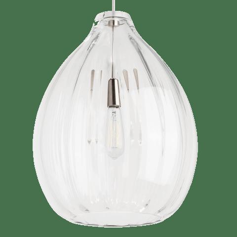Harper Pendant Clear black no lamp