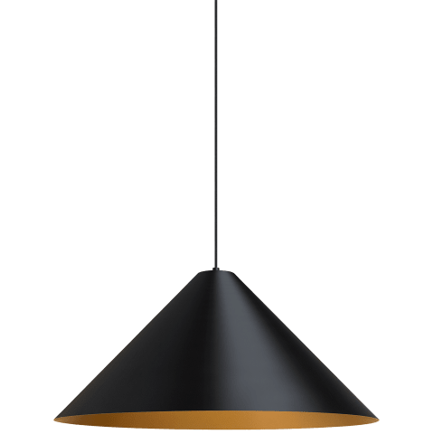 Konos Pendant Black/Satin Gold no lamp