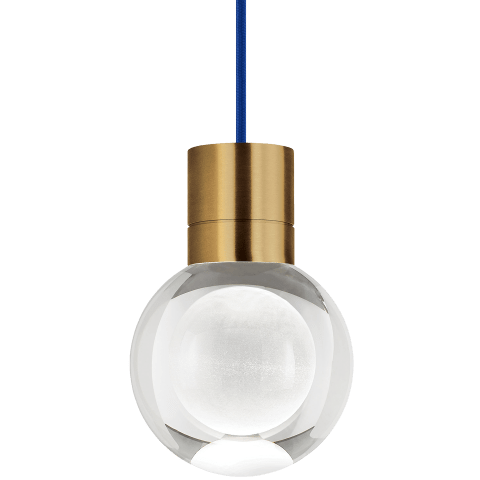 Mina Pendant 1-LITE Clear aged brass 3000K-2200K 90 CRI led 90 cri warm color dimming 3000k - 2200k 120v (t24)