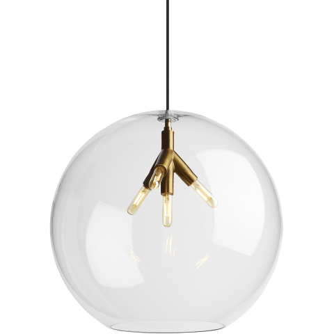 Palla Pendant Quatnik Pendant Assembly Clear aged brass Not Applicable no lamp