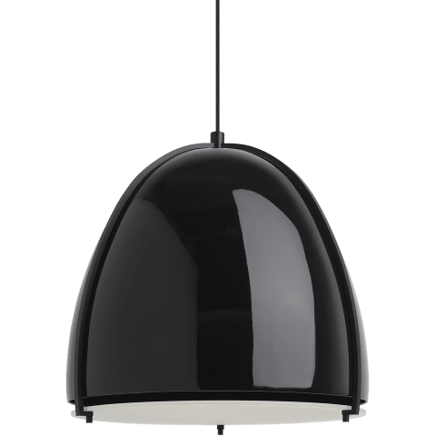 Paravo Pendant gloss black/matte black no lamp
