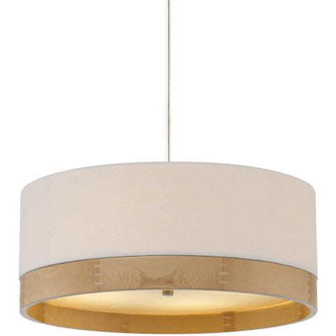 Topo Suspension White satin nickel no lamp